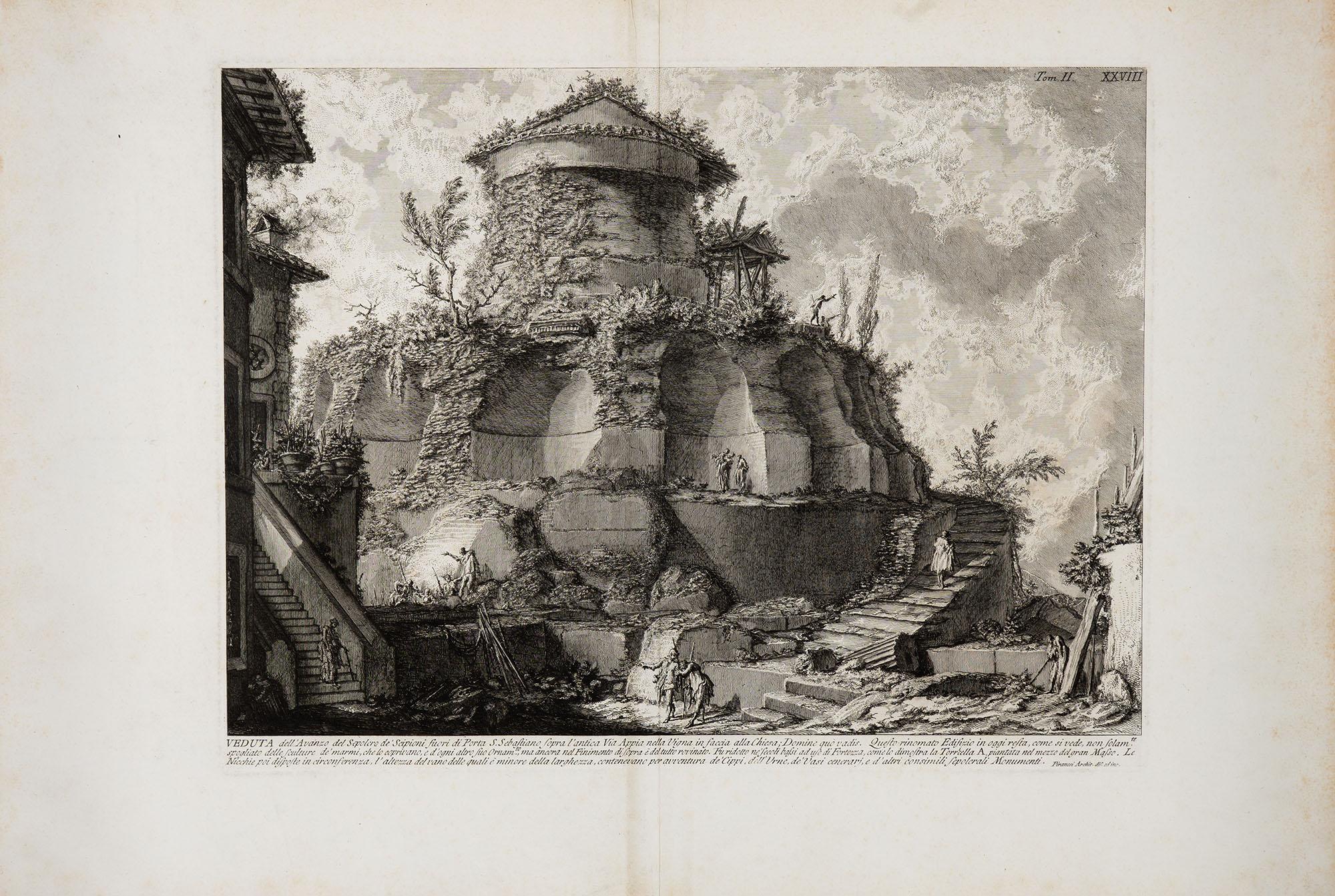 27. Veduta dell'Avanzo del Sepolcro de' Scipioni fuori di Porta S. Sebastiano