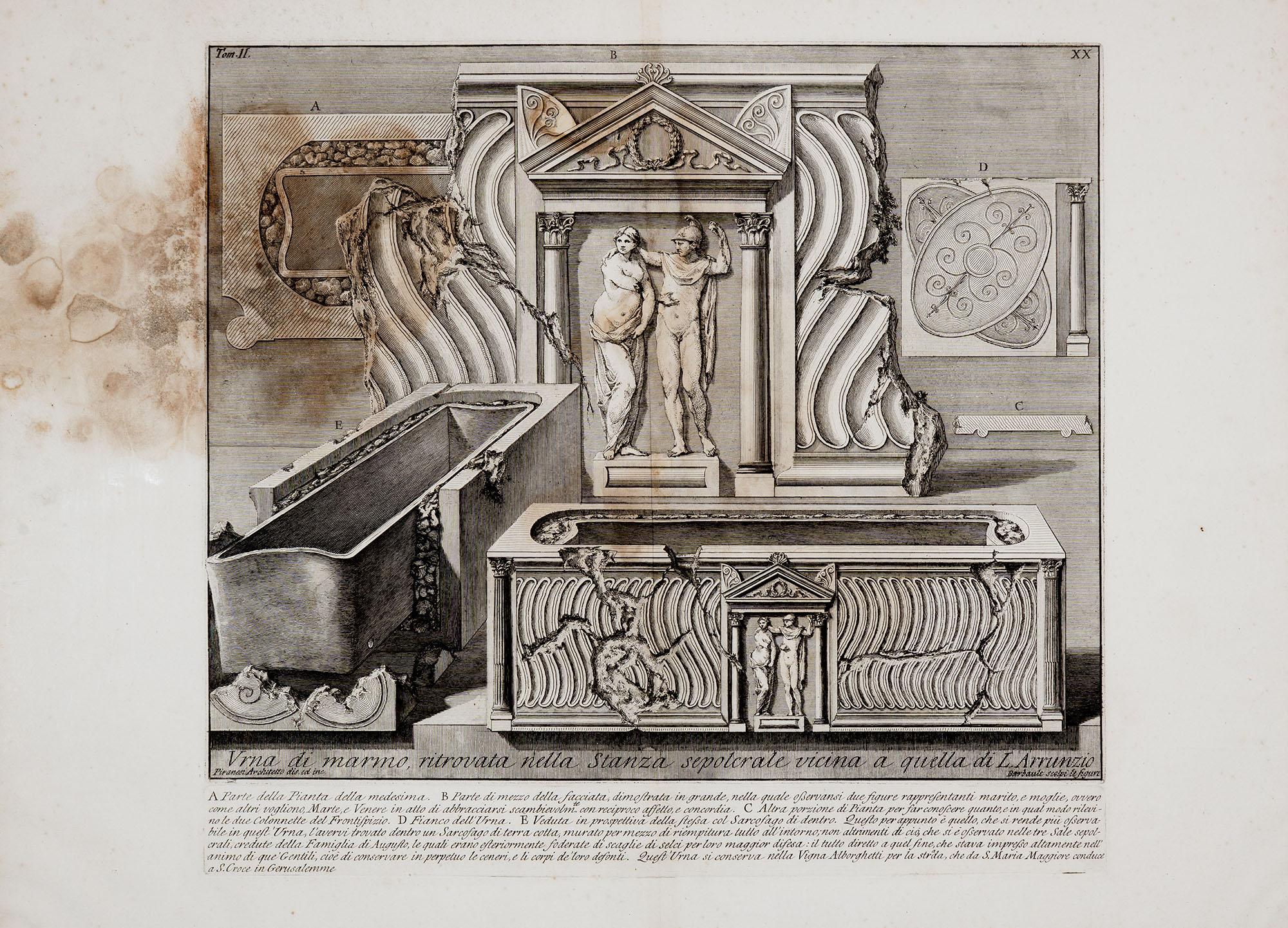 28. Urna di marmo ritrovata nella stanza sepolcrale vicina a quella di L. Arrunzio
