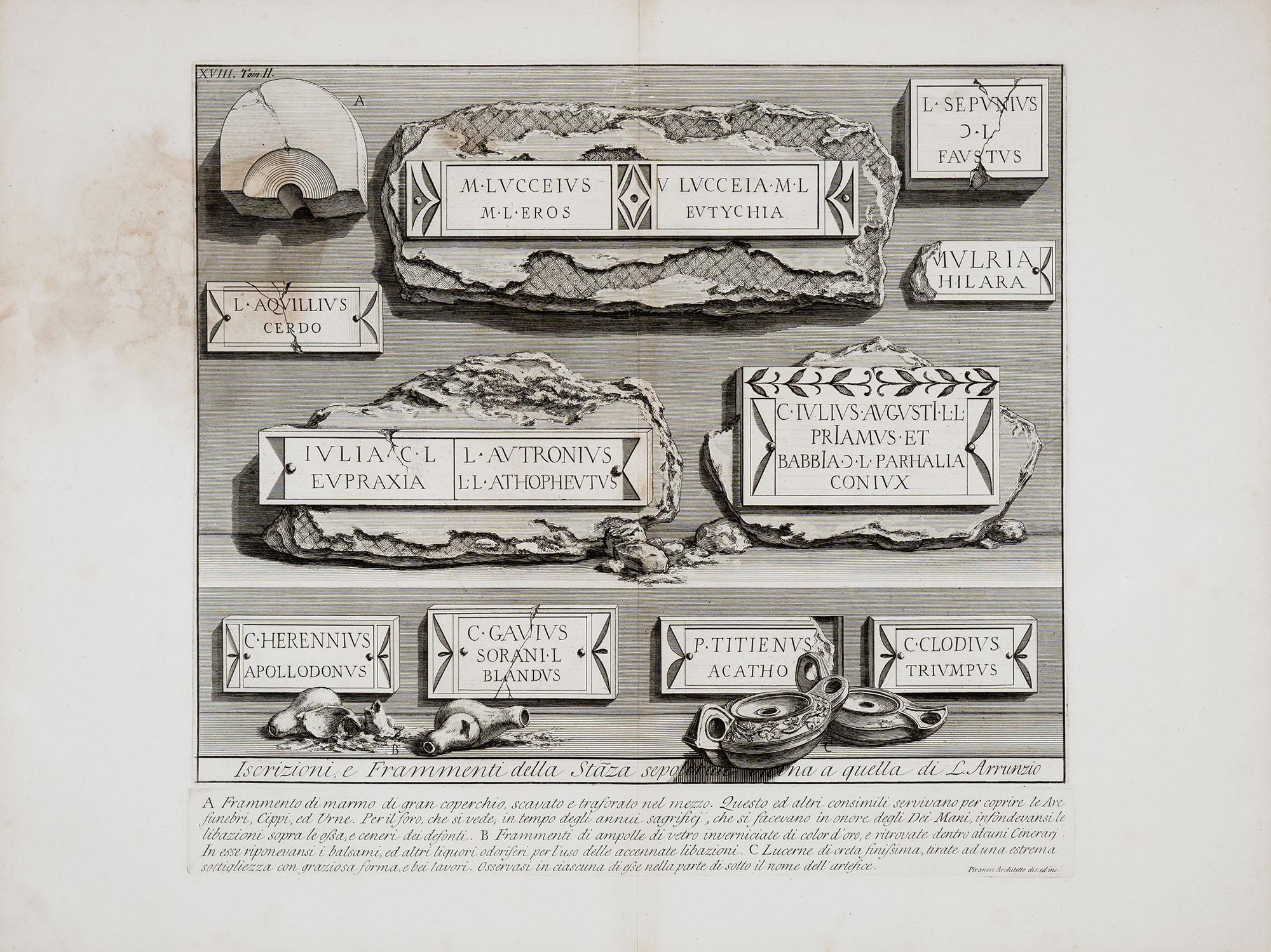 33. Iscrizioni e Frammenti della Stanza sepolcrale vicina a quella di L. Arrunzio