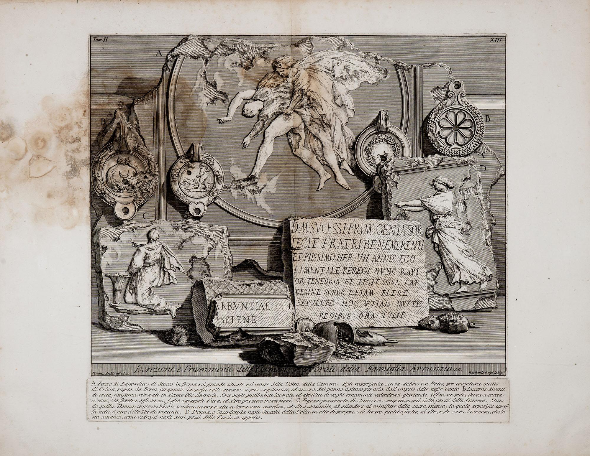 34. Iscrizioni e Frammenti della Stanza sepolcrale vicina a quella di L. Arrunzio
