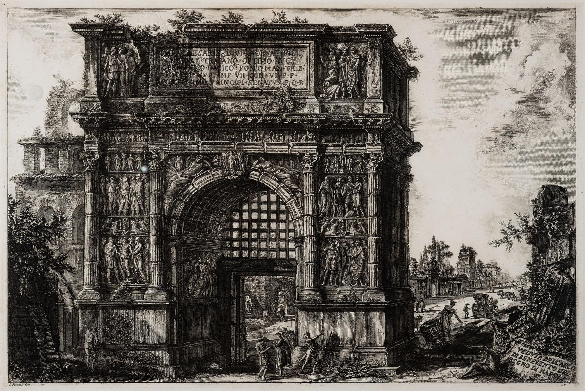 Veduta dell'Arco di Benevento nel Regno di Napoli