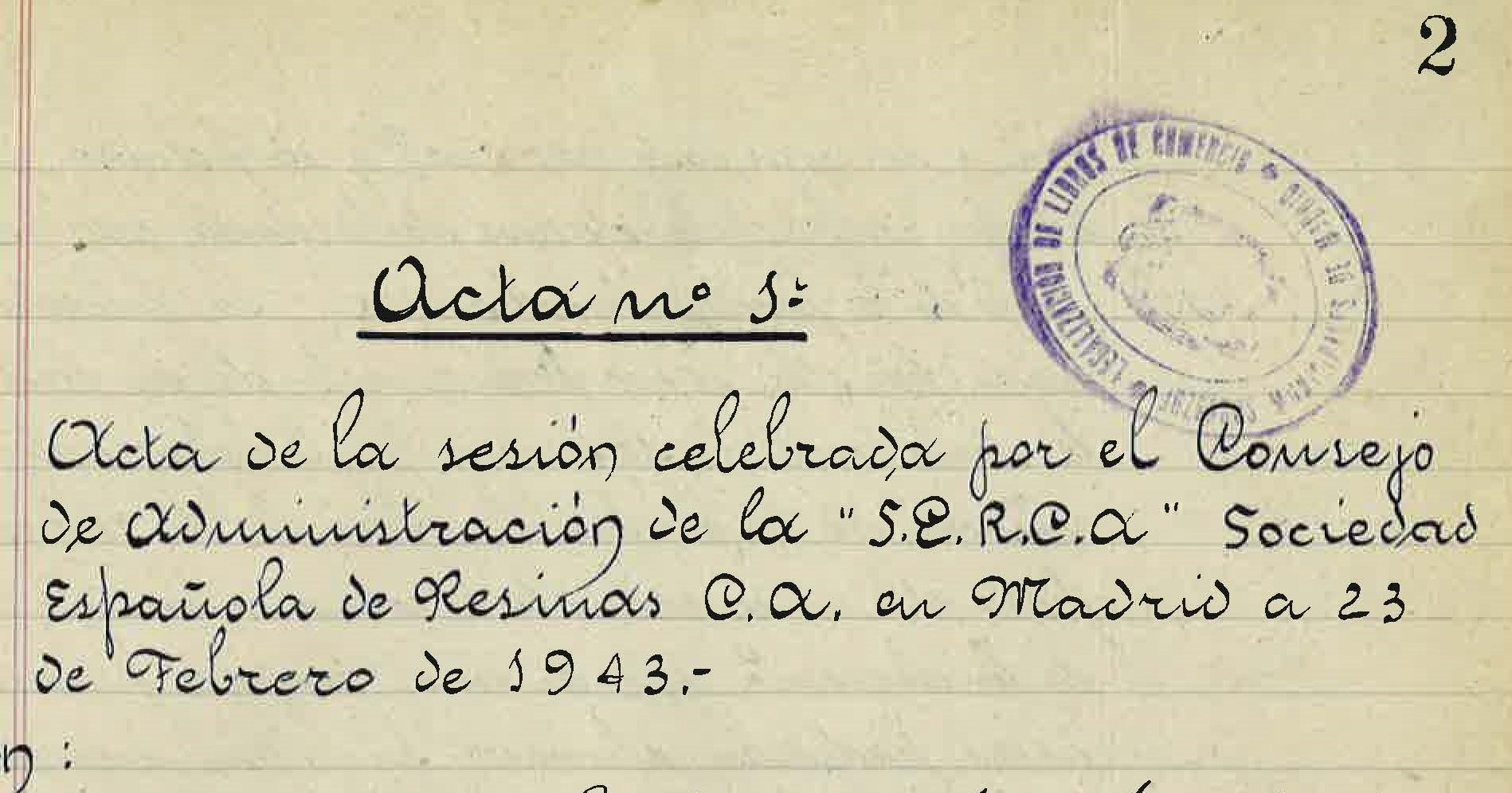 Sociedad Española de Resinas, Compañía Anónima